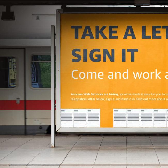 Amazon - Ad Campaign - Resignation Letter - Mellor&Smith