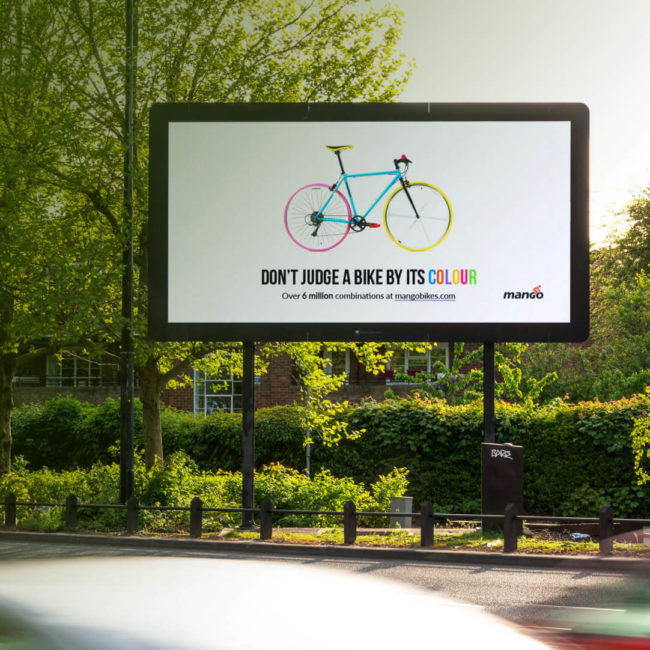 Mango Bikes - Ad Campaign - Dont Judge a Bike By Its Colour - Mellor&Smith